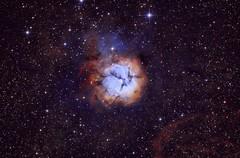 M20 Trifid Nebula in narrowband (alistairsam2) Tags: astro astronomy m20 trifid sbig nebula astrophotography