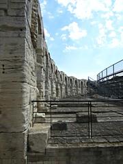 Arles Amphitheatre (AmyEAnderson) Tags: coliseum amphitheatre stadium historic limestone arles provence france bouchesdurhone roman romanesque architecture arches railing bricks stonework unesco