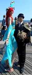 Dr. Takeshi Yamada and Seara (Coney Island Sea Rabbit) at the Mermaid Parade by the Coney Island Beach in Brooklyn, New York on June 18, 2016.  20160618SAT MERMAID PARADE. DSCN6618=p0010C1. (searabbits23) Tags: searabbit seara takeshiyamada  taxidermy roguetaxidermy mart strange cryptozoology uma ufo esp curiosities oddities globalwarming climategate dragon mermaid unicorn art artist alchemy entertainer performer famous sexy playboy bikini fashion vogue goth gothic vampire steampunk barrackobama billclinton billgates sideshow freakshow star king pop god angel celebrity genius amc immortalized tv immortalizer japanese asian mardigras tophat google yahoo bing aol cnn coneyisland brooklyn newyork leonardodavinci damienhirst jeffkoons takashimurakami vangogh pablopicasso salvadordali waltdisney donaldtrump hillaryclinton endangeredspecies parade