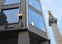 The Monument and Pudding Lane (Dun.can) Tags: greatfireoflondon 1666 350thanniversary monument london puddinglane christopherwren wren ec3 cityoflondon 17thcentury streetsign