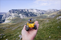 WALL-E in Durmitor (gwennan) Tags: toy pvc jfigure japan figures figure cute anime closeup colors color macro halloween revoltechpixarfigure revoltech walle revoltechpixar kaiyodo montenegro crnagora  walks nature autumn vacation durmitor durmitornationalpark nationalpark mointain rock