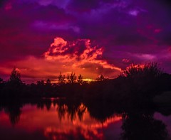 Roaring flames in the sky (branty16) Tags: relax patients samyang autumn evening lake yellow purple red clouds water filter longexposure tripod nikon d7200