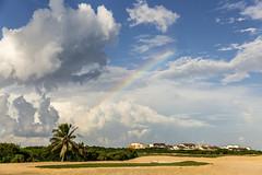 Punta Cana Rainbow (katarzynarusilowicz) Tags: rainbow sky skyporn nature villa casa travel puntacana dominicanrepublic beautifuldestinations exotic caribbeansea canon canonphotography clouds palmtrees sand