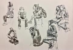 dibujos rpidos en clase (lauramurillom) Tags: tinta retrato portrait encre ink drawing disegno dessin dibujo
