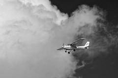Into the Vortex (brev99) Tags: colorefex dxofilmpack5 d7100 tamron70300vc airplane blackandwhite cloud
