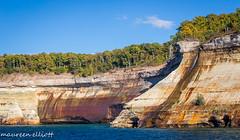 The Colours of Rock (maureen.elliott) Tags: rockforms rock lakesuperior cliffs escarpment picturedrocknationallakeshore michigan upperpeninsualofmichigan landscape outdoors nature