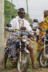Ewe Chief on Motor Bike (peace-on-earth.org) Tags: regionplateaux tgo togo geo:lat=694397500 geo:lon=117168833 geotagged nots ewe peaceonearthorg
