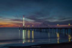 Brighton Jetty at Sunset (johnwilliamson4) Tags: adelaide blend brighton clouds jetty sky southauatralia southaustralia sunset reflections australia