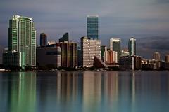Relative Calm (Bino99) Tags: miami le canon 70d bino99 water bay city skyline reflection morning brickell