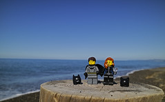 (autobusapedali) Tags: squared lego love legophoto beach blue catwoman batman legominifigures canonm3 canon