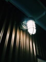 The lone light (nikitalesnik) Tags: phone iphone6 iphone wall door doorframe lightpost light