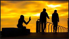 EL CHULO DE BADALONA (Badalona-Barcelona) (FEMCUA) Tags: martesdenubes nwncloudstuesday nwn cloudstuesday nubes amanecer espaa spain felicemarteddinuvole felizmartesdenubes catalunya catalua badalona pontdelpetroli amarillo siluetas mono anisdelmono