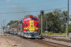 RPCX 315 / Sealy, Texas (Donovan J. Reed) Tags: texas train rpcx galvestonrailroadmuseum santafe emd f7