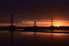 Mersey Gateway bridge (jonknipe) Tags: sunrise bridge dawn river mersey runcorn widnes construction merseygateway