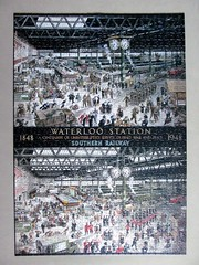 Waterloo Station (pefkosmad) Tags: jigsaw puzzle leisure hobby pastime complete 1000pieces waterloo station painting poster art