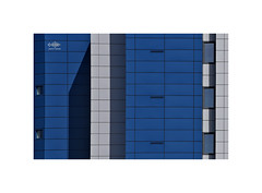 Blue Wall (silver/halide) Tags: architecture modern johnbaker d750 abstract window shadow minimalist repeating pattern lines cornwallcollege