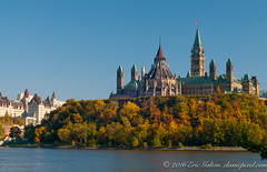 The Canadian Parliament and the Chateau Laurier (Classicpixel (Eric Galton) Photography Portfolio) Tags: parliamenthill canadianparliament politics politique parlementducanada ottawa ontario canada chateaulaurier fairmont river rivire parlement automne autumn ericgalton eric galton classicpixel