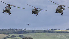 Here come the boys (benji1867) Tags: aw101 eh101 merlin agusta westland agustawestland vl rnas yeovilton hms seahawk royal naval air station airshow show airday avgeek avporn aviation fly flight helo chopper helicopter copter hughes ah64 apache army corps aac ugly canon 7d2