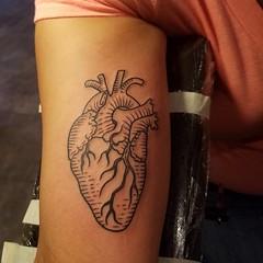 Walk in heart #hearttattoo #anatomicalhearttattoo #phillytattoo #phillyartist