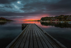 Sunset in Hellvik,Norway. (BjrnP) Tags: sunset sea water sky clouds seascape landscape cabins colors norway norge rogaland hellvik peder bjrn bjrkeland pir reflection sony tamron tamron1530 light explore