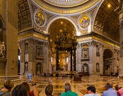 St Peter's Basilica Rome (hxsaint08) Tags: 2016 rome september canon 5d mark iv catholic basilica gold colour church chiesa marble religious tourist architecture canon5dmk4 historic italy light n