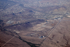 Aerial view of I-17 and Carefree Highway, Phoenix and Anthem, Arizona (cocoi_m) Tags: aerialphotograph aerial phoenix anthem arizona i17 interstate17 carefreehighway sr74 skunkcreek nature geology geomorphology