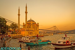 ORTAKY CAMII  ISTANBUL (01dgn) Tags: ortaky camii moschee mosque cami istanbul turkey trkei trkiye colors sunset
