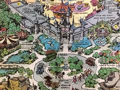 Sleeping Beauty Castle and Hub (Retrolandia) Tags: disneyland 1960s