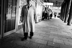 The Man with the Cane (gwpics) Tags: german man hamburg people germany mono clothes cane streetphotography blackwhite blackandwhite male men monochrome person socialcomment socialdocumentary society straenfotograpfie bw lifestyle streetpics