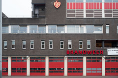 3,4,5,6 (photosam) Tags: amsterdam noordholland netherlands fujifilm xe1 fujifilmx prime raw lightroom xf35mm114r xf35mmf14r cloudy architecture brandweer firestation modernist