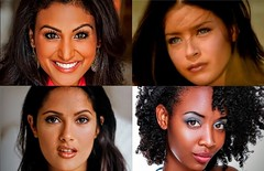 Multiracial Faces (Gooseberries203) Tags: women faces headshot headshots celebrities model salmahayek ninadavuluri nina davuluri selma hayek black african beauty beautiful sexy eyes lips nose face charlotteayanna charlotte ayanna hispanic shesallieverhad rickymartin musicvideo young missamerica latina puertorican multiracial ethnicities eastindian africanamerican middleeastern lebanese mexican olive chocolate tan skin dark brown hair curly wavy straight 2014 indian hot pagent photoshoot profile almondeyes doeeyes big gloss bronze chin jaw happy serious flirty actress gorgeous multiethnic exotic asian southasian nativeamerican races multicultural