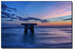 Monday Blues on a Tuesday (Fraggle Red) Tags: statepark clouds evening pier rocks florida dusk westcoast hdr aftersunset bocagrande oldpier leeco gasparillaisland 7exp canonef1635mmf28liiusm gasparillaislandstatepark dphdr
