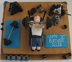 Weight Lifter cake!!! :-) (Pauls Creative Cakes) Tags: birthday cake gym weights lifting dumbbells