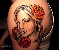 Una sesion madre. Tattoo by miss hask (Miss Hask ) Tags: girl rose tattoo rosa miss tatuaje hask tattoogirl misshask