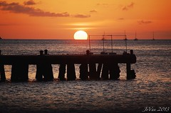 sundowner (angelinejovan) Tags: sunset jetty grenada caribbean carriacou