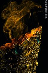 Censer XXI (TJ.Photography) Tags: lamp metal handle fire gold golden shiny glow perfume shine treasure stones metallic smoking burning flame burn ornament smell oriental orient smoker burner artifact aromatic item incense luster jewel odor artefact aroma engrave smelling censer cense