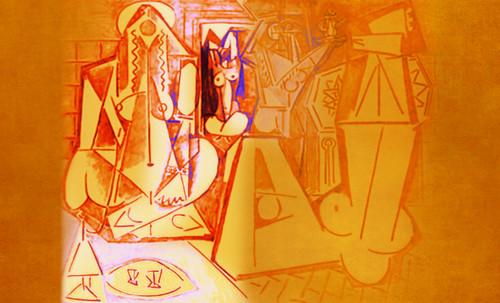 """Odaliscas (Mujeres de Argel) yuxtaposición y deconstrucción de Pablo Picasso (1955), síntesis de Roy Lichtenstein (1963). • <a style=""""font-size:0.8em;"""" href=""""http://www.flickr.com/photos/30735181@N00/8748000266/"""" target=""""_blank"""">View on Flickr</a>"""