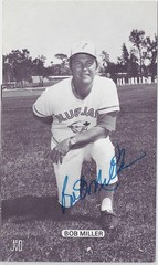 "1977 J.D. McCarthy Toronto Blue Jays Postcard - Bob ""Lane"" Miller #15 (Pitching coach) (b: 18 Feb 1939 - d: 6 Aug 1993 at age 54) (Kneeling on right knee) - Autographed (WhiteRockPier) Tags: baseball postcard 1979 signed autographed torontobluejays jdmccarthy"