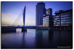 MEDIA CITY (vicki127.) Tags: longexposure manchester salfordquays vicki burrows digitalcameraclub mediacity flickraward ilovemypics canon650d mediabridge ringexcellence lightroom4 vicki127 adobephotoshopcs6