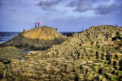 One the rocks at Giants Causeway (Etrusia UK) Tags: ocean sea sky water clouds geotagged rocks columns places unescoworldheritagesite worldheritagesite northernireland nationaltrust giantscauseway basalt nikkorlens coantrim 18135 basaltcolumns heritagesite 18135mm printcandidate 18135mmlens geo:lat=55240377611614925 geo:lon=65120722353458405