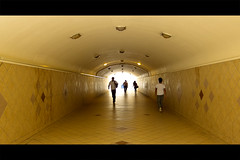 at the underpass (Renen Jose Navalta) Tags: people canon walking daylight under pass tunnel photowalk passage abu dhabi s95