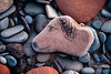 Crosscanonby dogstone (3) (allybeag) Tags: dog beach stone drawing shore solway dogstone seacoal crosscanonby