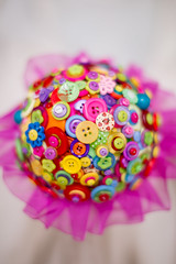 bright summer button bouquet (pumpkin and pye) Tags: bridesbouquet buttonbouquet broochbouquet summercolourbouquet