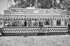 DSCF6829 (RHMImages) Tags: blackandwhite bw sign fuji fair fujifilm hotdogs countyfair corndogs contracostacounty x100s masonsgourmet