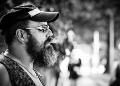 The raw man (Giulio Magnifico) Tags: portrait man sunglasses composition blackwhite raw smoke streetphotography smoker udine nikond800 nikkormicro105mmafsvrf28