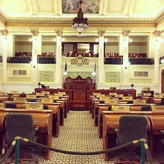 South Dakota Senate Chamber before session.