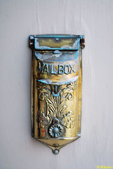 Vintage Mailbox (jrbutler90) Tags: photography nikon d200 kodachrome mail box vintage gold tarnished time history past