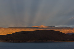 Anti-crepuscular Rays at Topaz Lake (Jeffrey Sullivan) Tags: topaz lake sunset weather storm clouds afternoon gardnerville douglascounty nevada monocounty california usa eastern sierra photography canon eos photo copyright may 2015 jeff sullivan anti crepuscular rays anticrepuscular sky united states landscape nature 70d