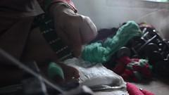 A Wave of Strand (www.WeAreHum.org) Tags: textile nepal thread bobbins gandhi tulsi ashram school for women kathmandu sowing weaving winds threads mechanical loom wood shuttles feet arts