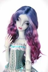 Blue rose (Kimirra) Tags: bjd abjd kagamidesign angorawig alpaca alpacawig bjdalpacawig minifee minifeechloe lillycat ombre commission colorfulhair colorfulwig